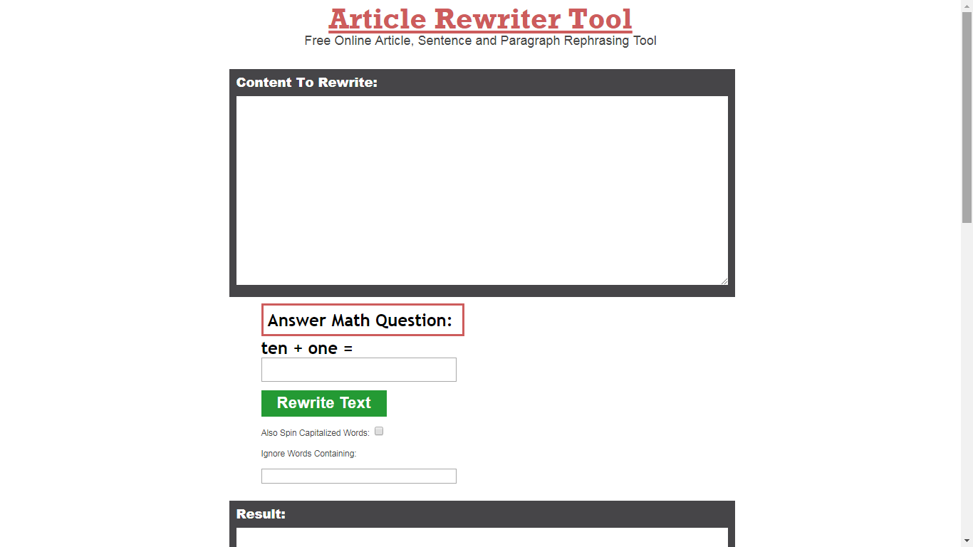 articlerewritertool.com review
